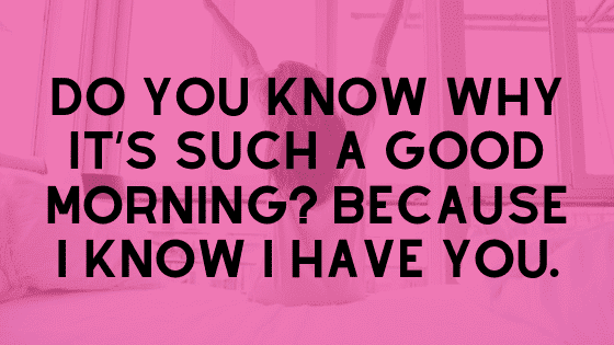 Sending a goodmorning text
