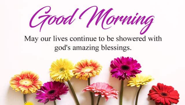 blessed good morning
