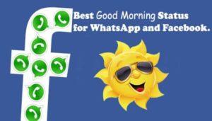 good morning facebook status