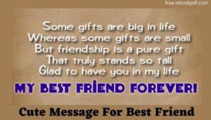Cute Message For Best Friend